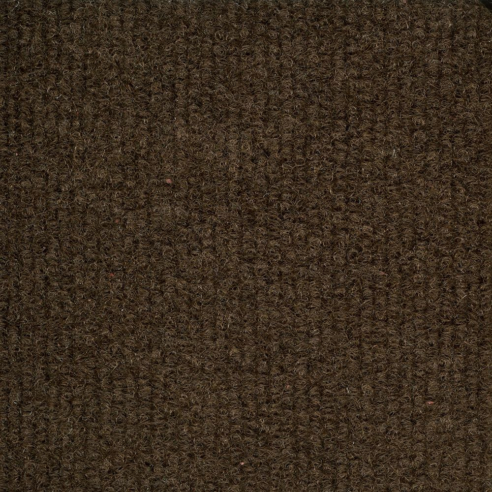 TrafficMASTER 18-inch x 18-inch Brown Ribbed Carpet Tile (36 sq. ft. / case)