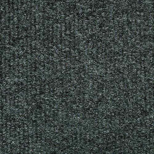 18-inch x 18-inch Gunmetal Ribbed Carpet Tile (36 sq. ft. / case)