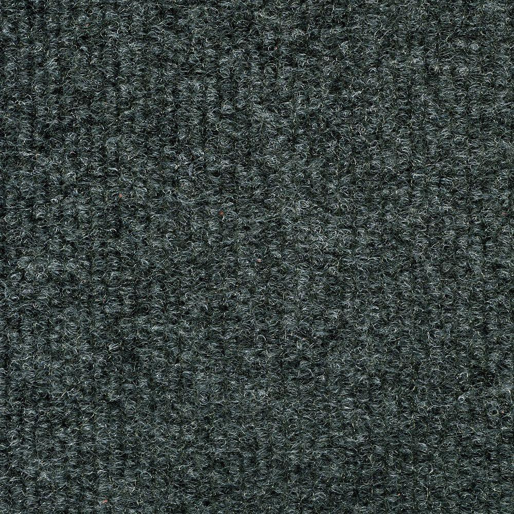 TrafficMASTER 18-inch x 18-inch Gunmetal Ribbed Carpet Tile (36 sq. ft. / case)
