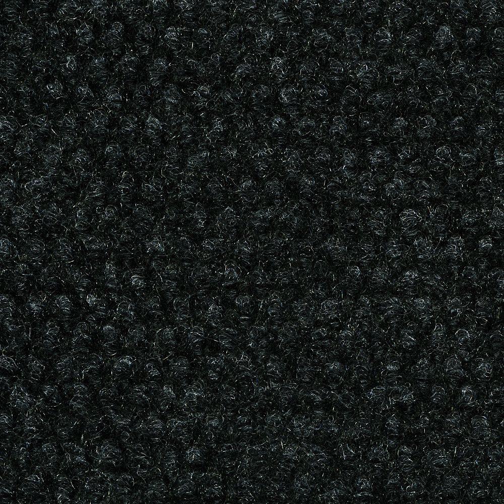 TrafficMASTER 18 Inch x 18 Inch Indoor/Outdoor Black Hobnail Carpet Tiles 16 Tiles/Case - (36 Sq.Feet./Case)