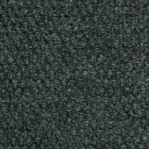 Tuile de tapis intérieure/extérieure avec motif à cabuchons 18 po. x 18 po., gris acier, 16 tuiles/boîte - (3,35 m2 carré par caisse)