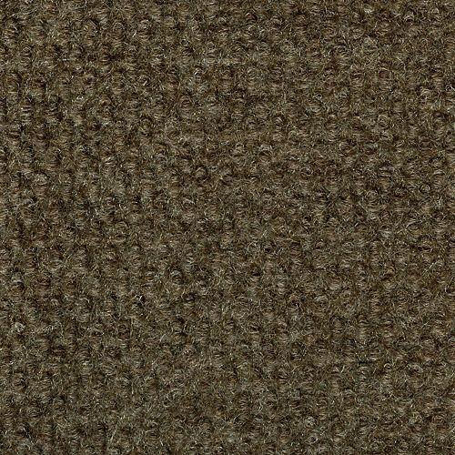 Tuile de tapis intérieure/extérieure avec motif à cabuchons 18 po. x 18 po., espresso, 16 tuiles/boîte (36 pi2 / caisse)