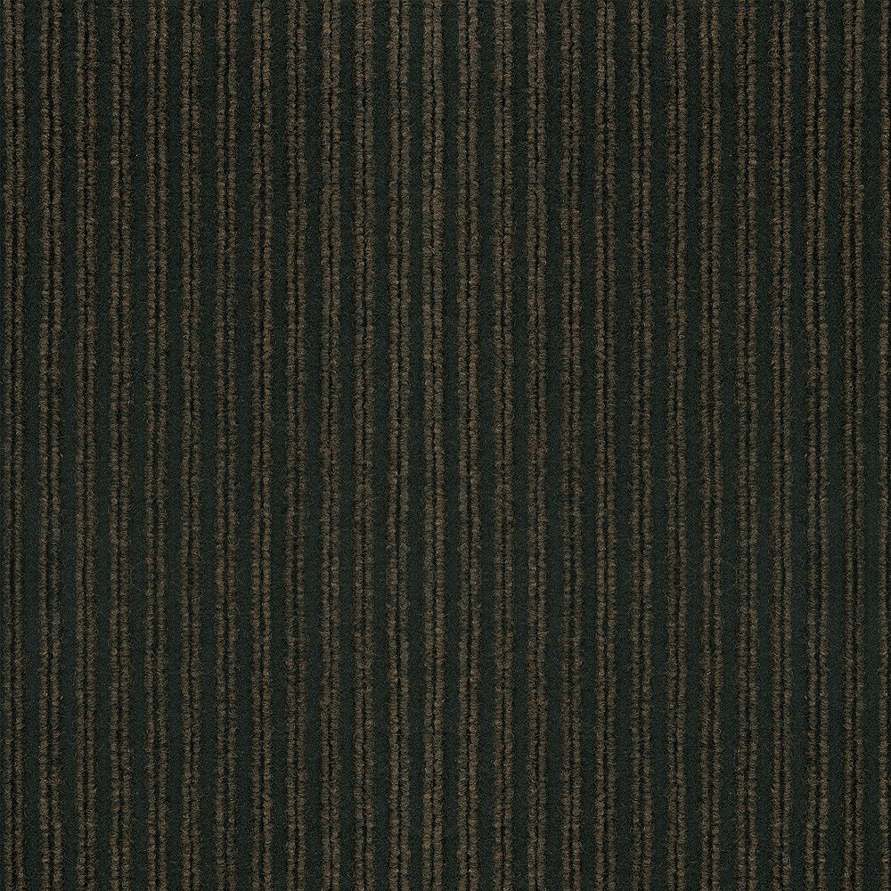 TrafficMASTER Corduroy Brown/Black 18 Inch x 18 Inch Carpet Tiles, 16 Tiles/Case - (36 Sq.Feet./Case)