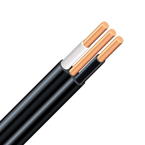 Southwire NMWU Copper Underground Electrical Cable 14/2 Black 10m