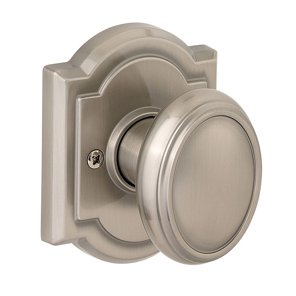Weiser Prestige Carnaby Inactive Door Knob in Satin Nickel