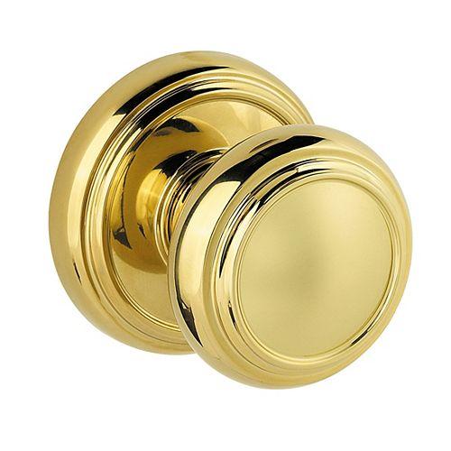 Weiser Bouton pour passage et penderie Prestige Alcott, fini Polished Brass