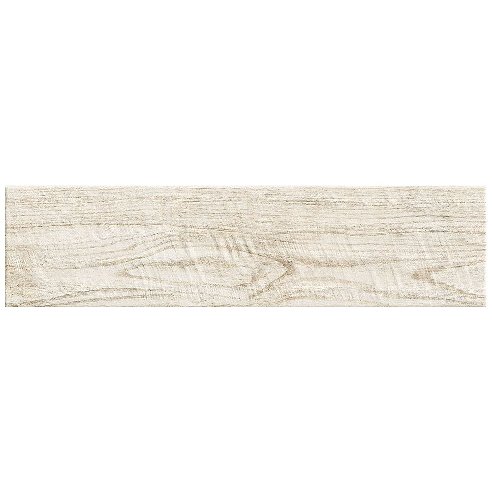 Marazzi Montagna White Wash 6 Inch x 24 Inch Porcelain Floor and Wall Tile