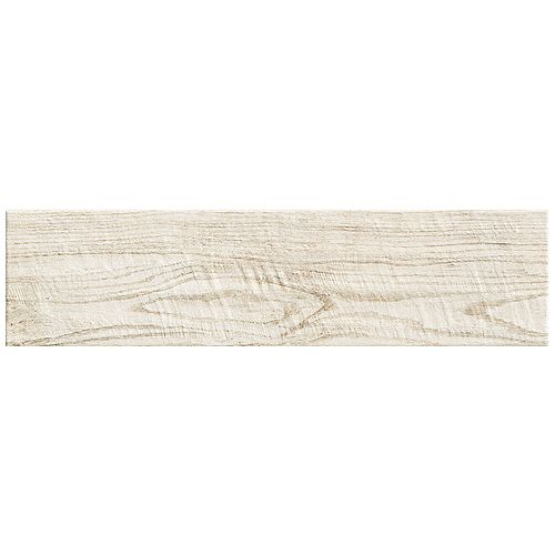 Montagna White Wash 6 Inch x 24 Inch Porcelain Floor and Wall Tile