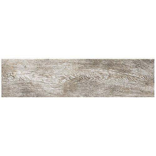 Montagna Dapple Gray 6 Inch x 24 Inch Porcelain Floor and Wall Tile (14.53 Sq.  Feet  / Case)