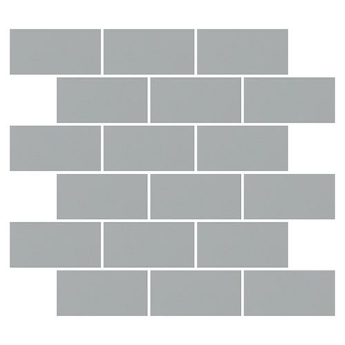 Dal Tile Finesse Grey 2-inch x 4-inch x 6 mm Ceramic Glazed Mosaic Tile