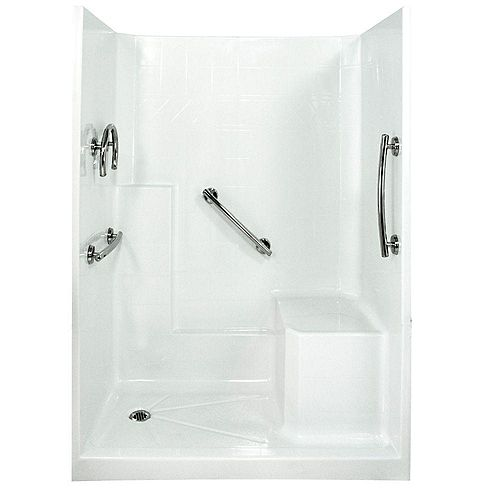 Freedom 32-Inch x 60-Inch x 77-Inch 3-Piece Shower Stall in White