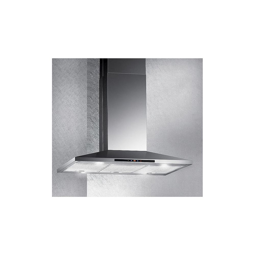 Arda 36-inch Island Range Hood with LED Display in Stainless Steel