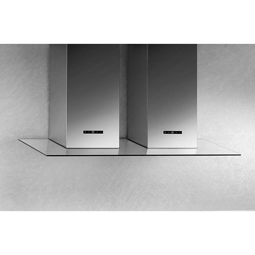 48-inch Wall-Mount Glass Canopy Range Hood in Brushed Stainless Steel