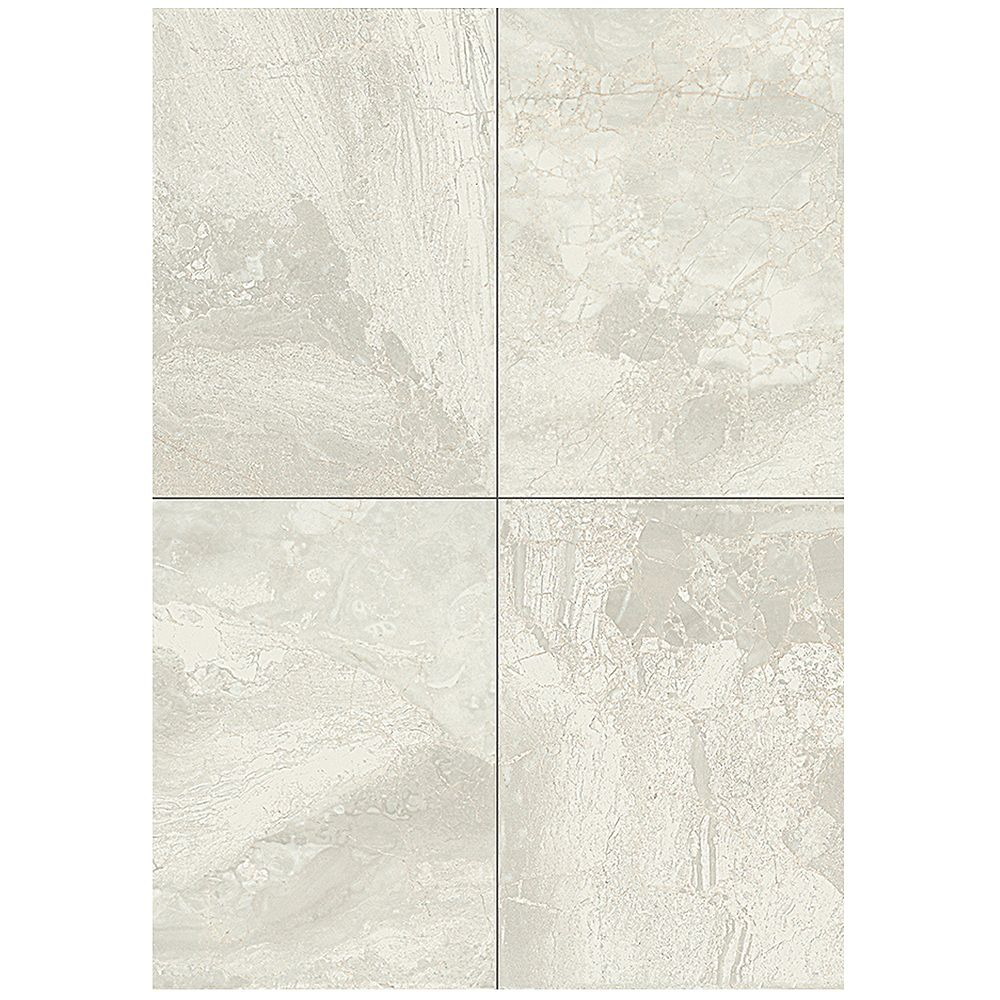 Dal Tile Marble Falls 10-inch x 14-inch Ceramic Wall Tile in White Water (14.25 sq. ft./case)