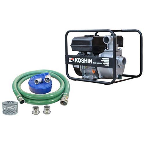 Pompe centrifuge koshin sev-50x avec un kit de tuyau pour pompe à eau de 2 pouces