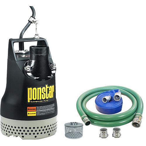 Pompe submersible koshin px-65011 avec un kit de tuyau pour pompe à eau de 2 pouces