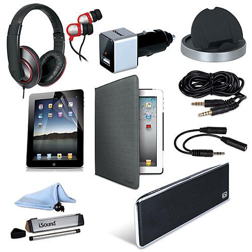 Trousse d'accessoires évoluée pour iPad , 3 et 4 (10-en-1)