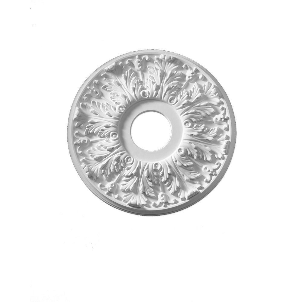 Fypon 16-inch x 16-inch x 1 1/8-inch Florentine Smooth Ceiling Medallion
