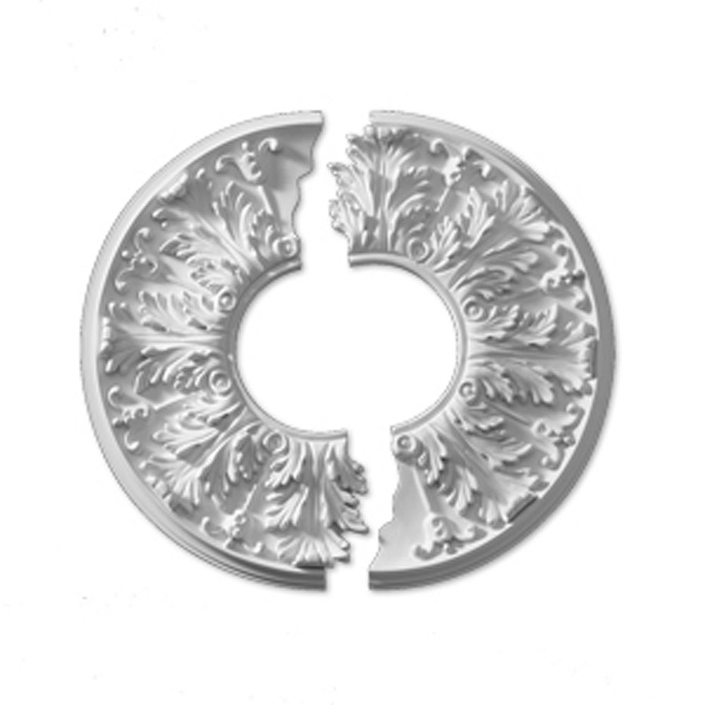 Fypon 15 13/16-inch x 15 13/16-inch x 5/8-inch Flor Smooth Ceiling Medallion (2-Piece)