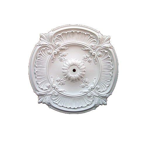 30 1/4-inch x 30 1/4-inch x 2 1/2-inch Acanthus Leaf Smooth Ceiling Medallion