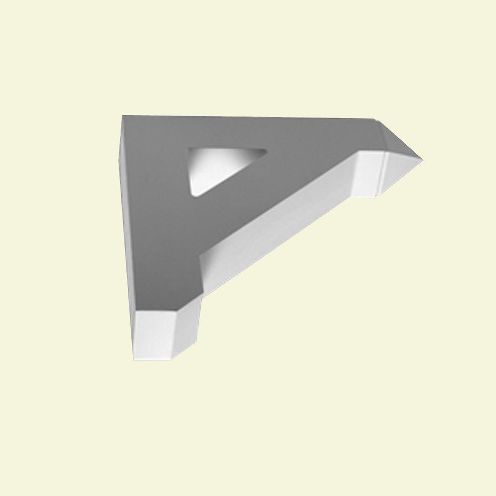 Fypon Console en polyuréthane apprêté 18 po x 3-1/2 po x 18 po
