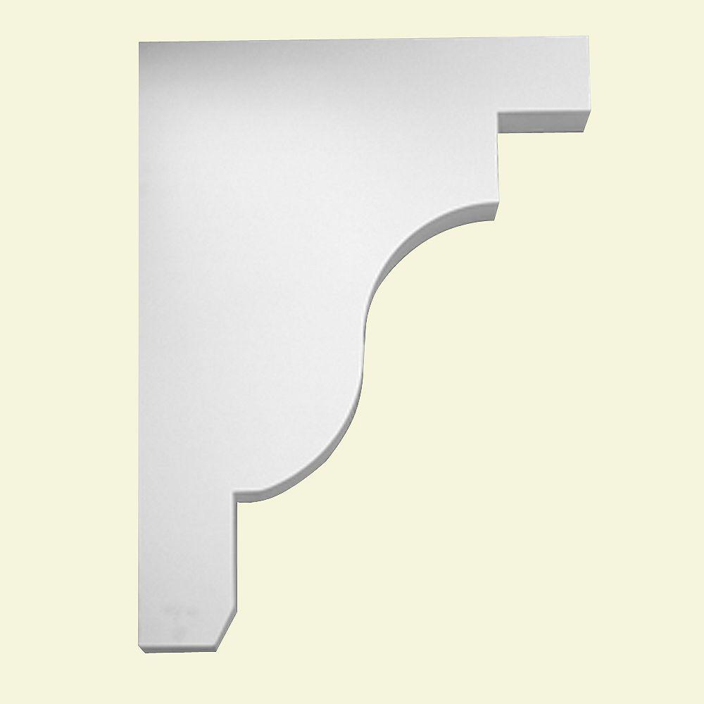 Fypon Console en polyuréthane apprêté 18 po x 3 po x 24 po