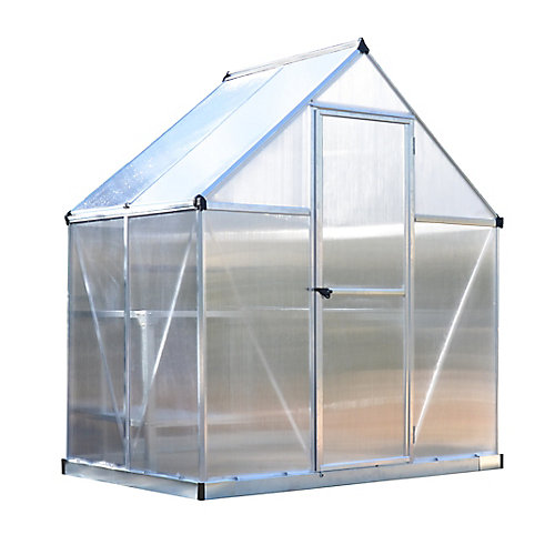 Deluxe 6 ft. x 4 ft. Twin Wall Silver Greenhouse