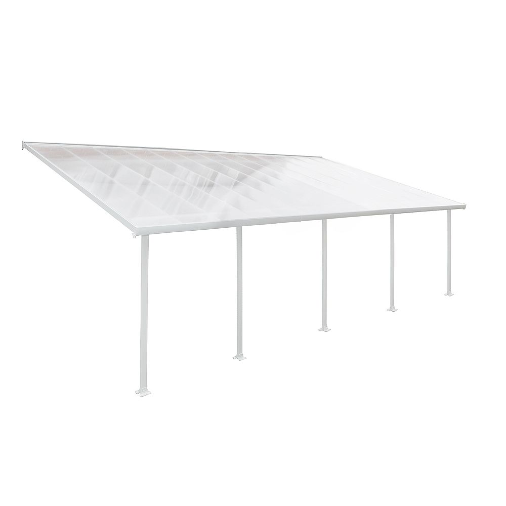 Palram Feria 13 ft. x 26 ft. Patio Cover in White