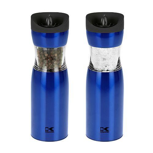 Blue Gravity Salt and Pepper Grinder Set
