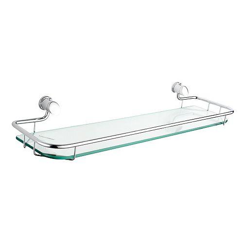 Infiniti 21.5 Inch Glass Shelf, Brushed Nickel