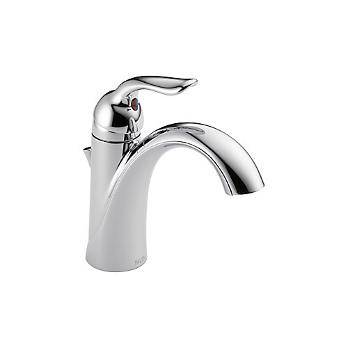 Lahara Single Hole 1-Handle Low Arc Bathroom Faucet with Lever Handle in Chrome