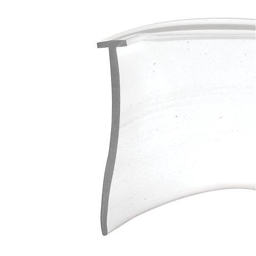 Joint d'étanchéité inférieur pour porte de douche, clair