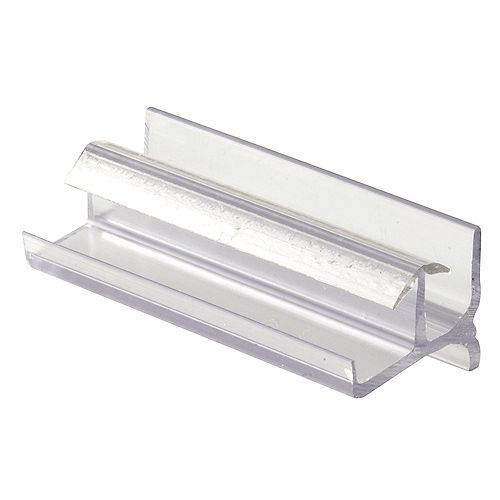Tub Enclosure Bottom Guide, Workright Products, Clear Plastic, Snap-In