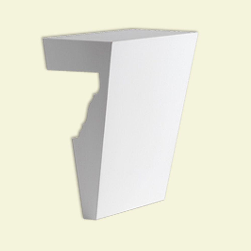 Fypon 5-3/4 Inch x 7 Inch Polyurethane Keystone Fits 6 Inch and 7 Inch Window and Door Crossheads