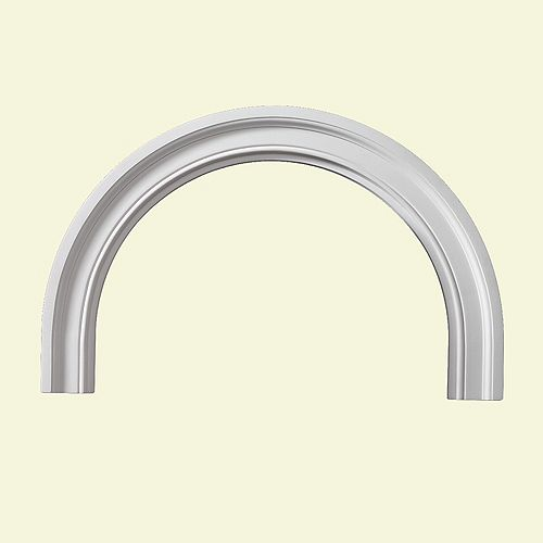 43 Inch x 25-1/2 Inch x 1-3/4 Inch Polyurethane Decorative Half Round Arch Trim