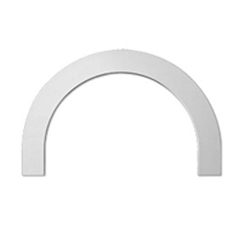 44-5/8 Inch x 26-5/16 Inch x 1 Inch Polyurethane Half Round Arch Trim Flat