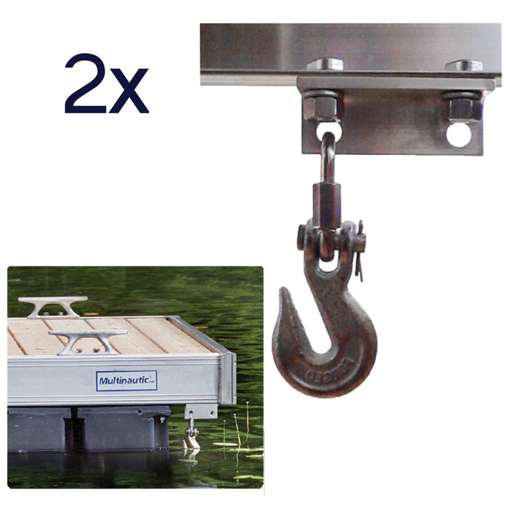 Multinautic Pair (2) Anchor Chain Hooks for QP-454, QP-475, QP-495 and QP-500 Aluminum Docks