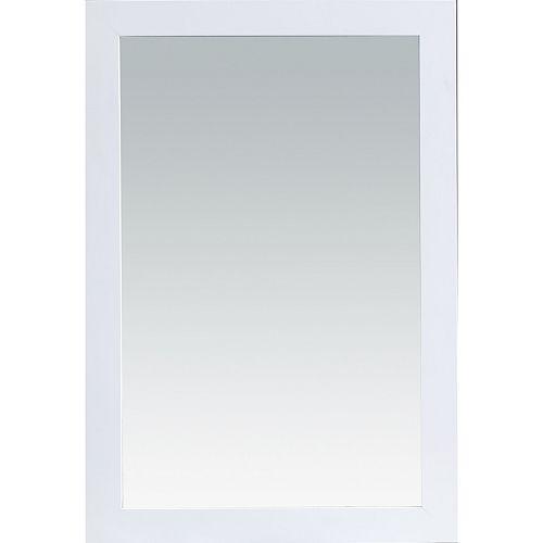 Miroir Rialto 24 po x 36 po - Série Courtyard Blanc