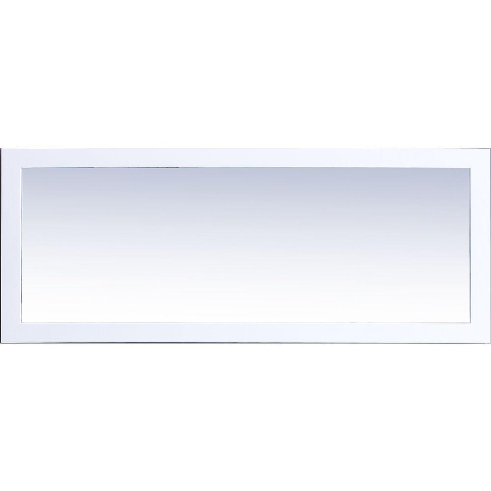 Malta Bath Courtyard Rialto Mirror 60 Inch x 24 Inch White Frame