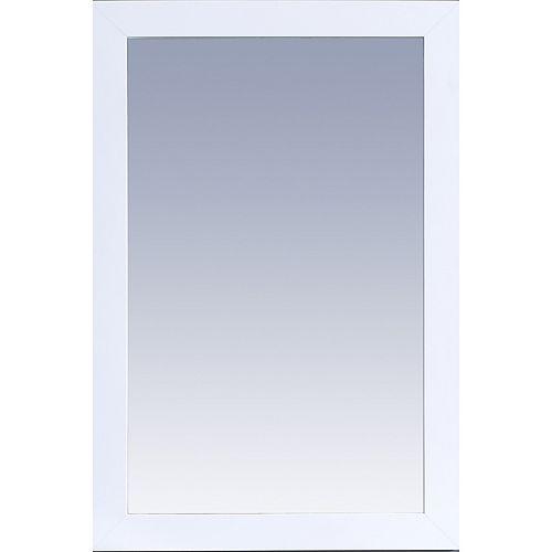 Miroir Buckingham 24 po x 36 po - Blanc