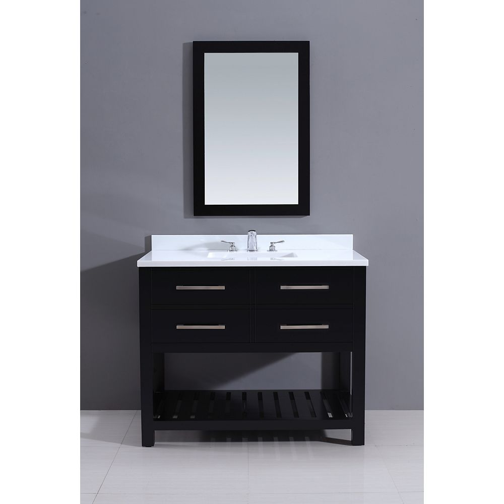 Malta Bath Courtyard Buckingham 42-inch W Vanity in Brown