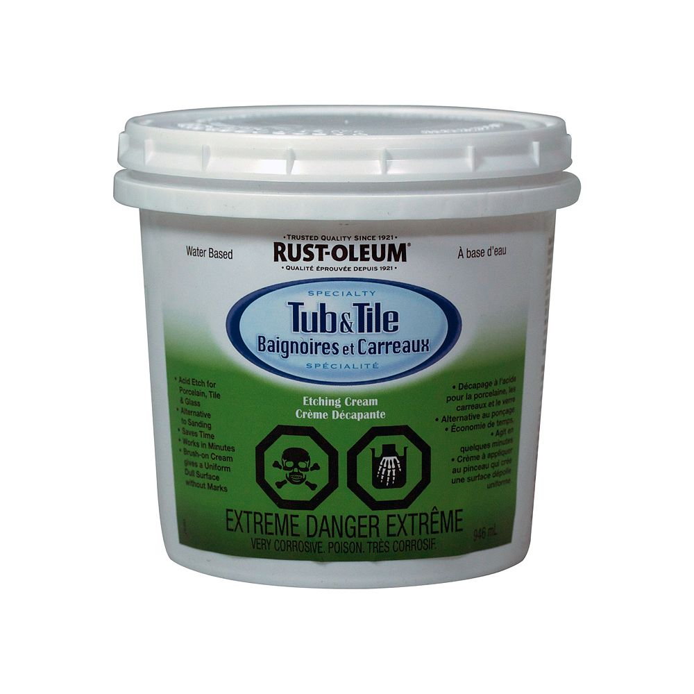 Rust-Oleum Specialty Tub & Tile Etching Cream In Gloss White, 946 Ml