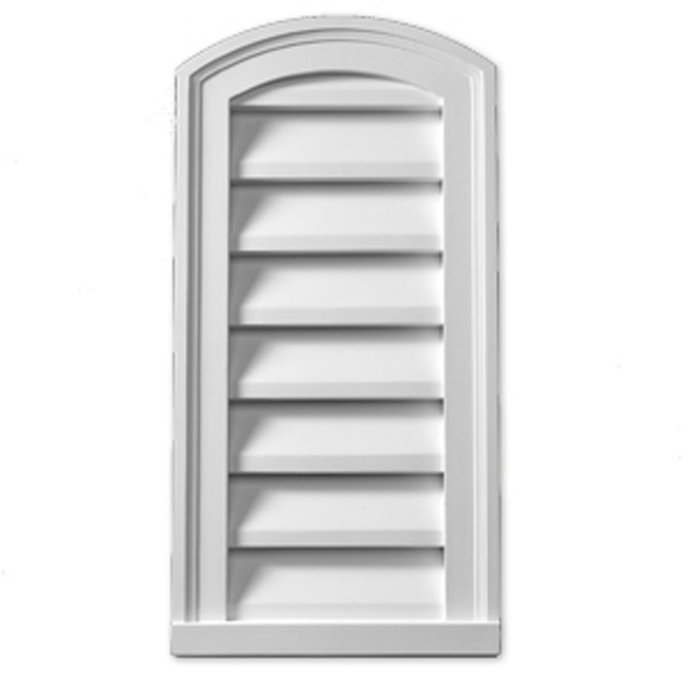 Fypon 12-inch x 24-inch x 2-inch Polyurethane Functional Eyebrow Louver Gable Grill Vent