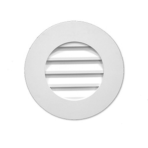 27-inch x 2 1/2-inch Polyurethane Functional Round Plain Louver Gable Grill Vent