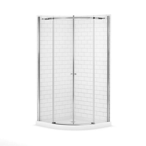 Magnolia 38-inch x 38-inch x 77-inch Round Shower Stall