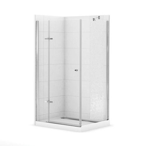 Urbano II Corner Fit 42-inch x 34-inch Rectangular Shower Stall