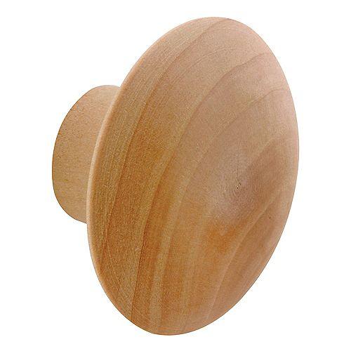 Bi-Fold Door Pull Knob with screw, Wood