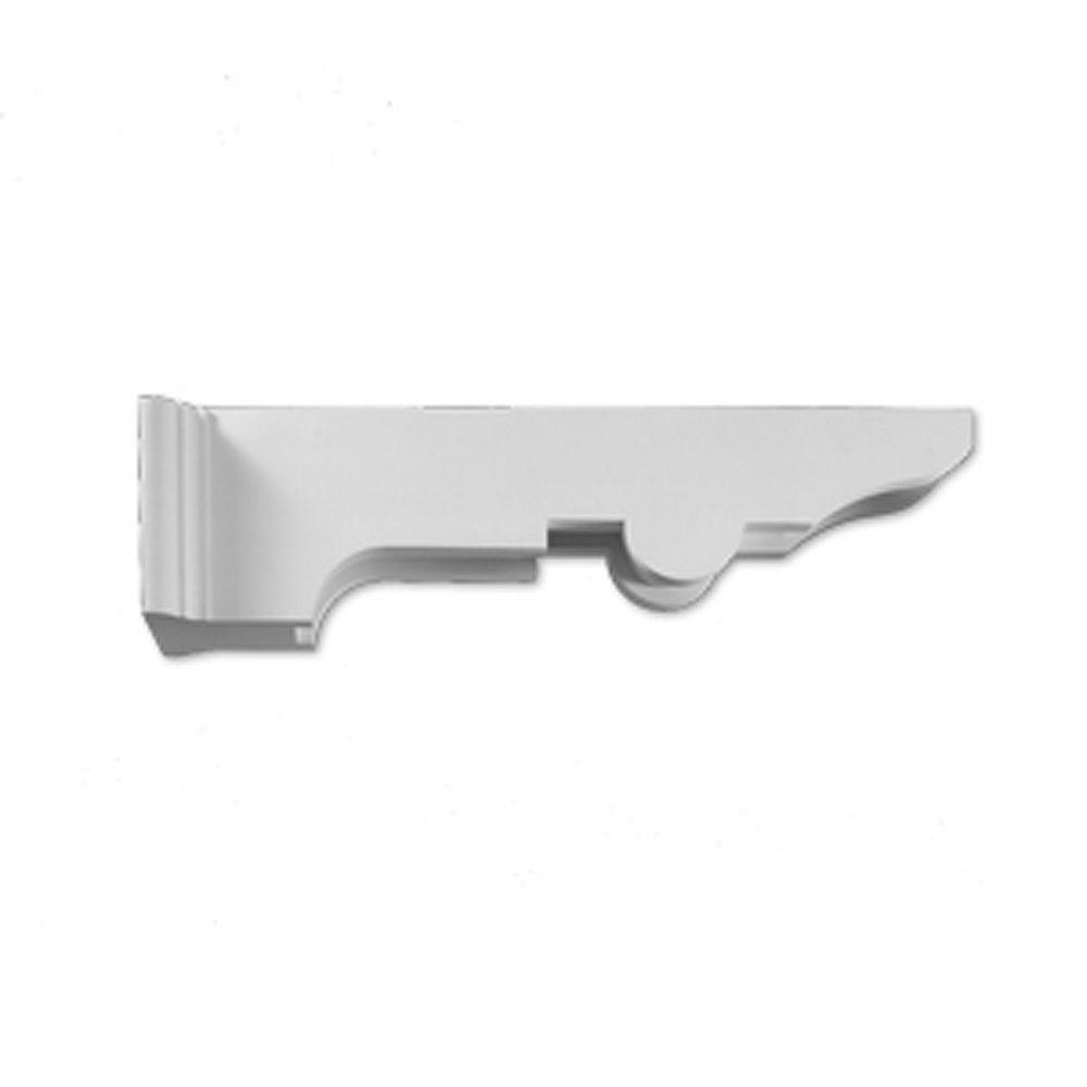 Fypon 35-inch x 9-inch x 10 3/4-inch Primed Polyurethane Bracket Moulding