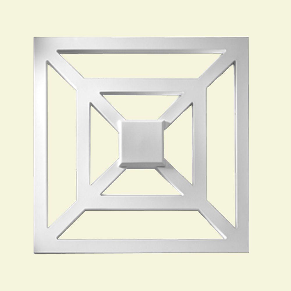 Fypon Panneau décoratif carré en polyuréthane apprêté 28 po x 1-5/16 po x 28 po