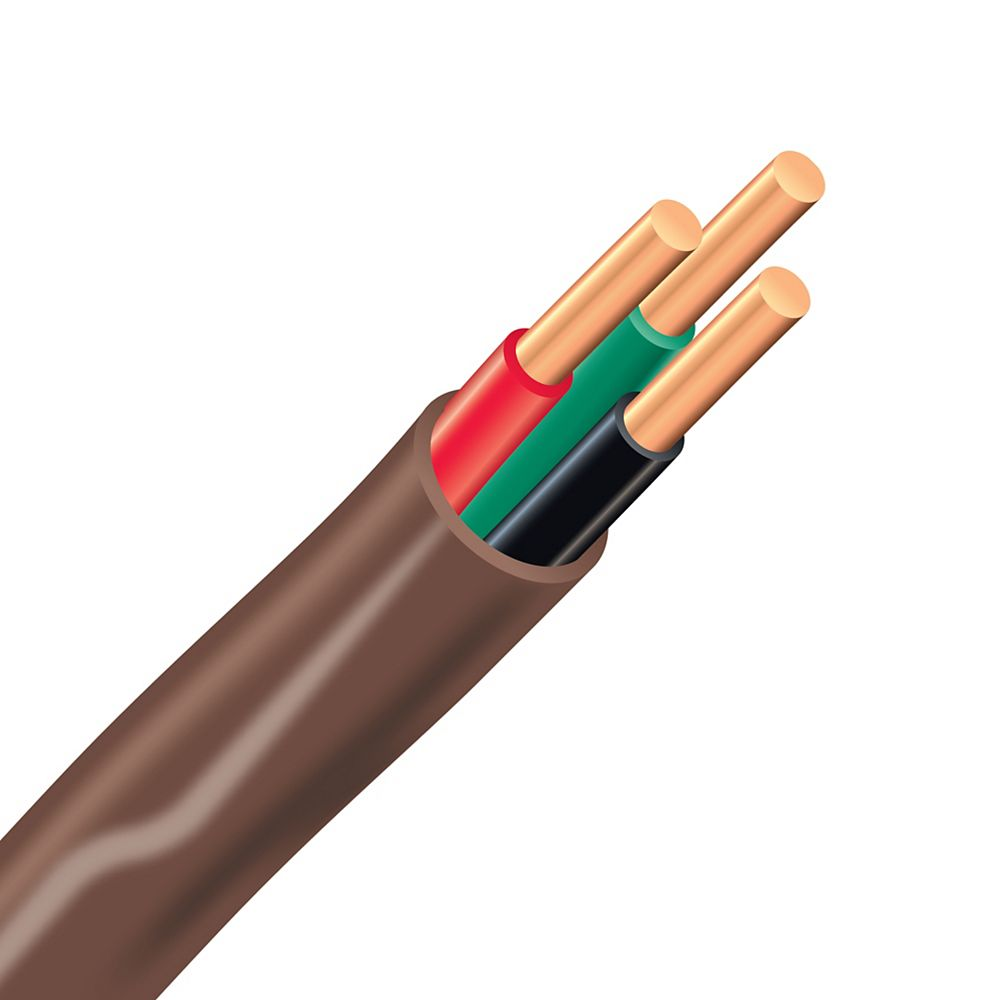 Southwire FAS/LVT Copper Thermostat Electrical Cable - 18/3 Brown 150m